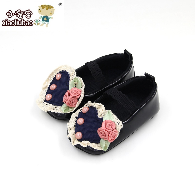 New 0-1 Years Discount Baby Infant Leather Shoes Toddler Girl First Walkers Shoes Princess Flower Footwear Crib Babe Anti-slip(China (Mainland))