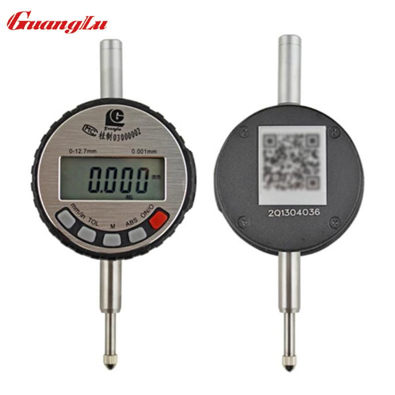 Electronic digital indicator Indicator 0-12.7*0.001mm stainless steel LCD display micron indicator digital measuring tool