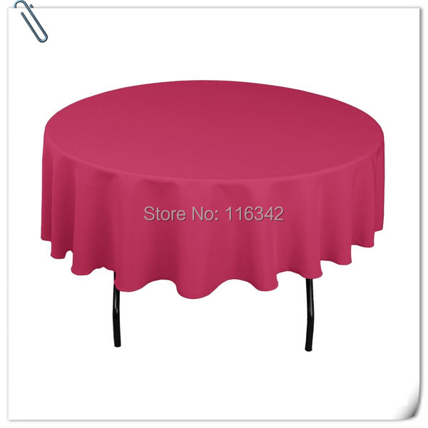 "Hot Sale ! Hot Sale !!! 100% polyester 70"" Round Rose Tablecloth Wedding Party Banquet Table Decorations Free Shipping(China (Mainland))"