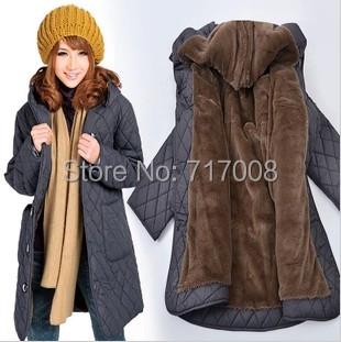 2015 women winter plus size clothing thick cotton parkas plus size winter coat long winter jacket women xxxxl xxxxxl xxxxxxl 5xl(China (Mainland))