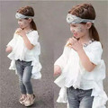 Hot Baby Girls Ruffle Runway Dresses Kids Girl Cotton Flare half Sleeve Dress Girl Princess Dress
