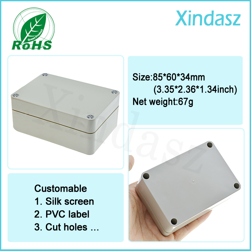 small plastic electronic enclosures plastic pcb enclosures,plastic waterproof  enclosures electrical 85*60*34mm <br><br>Aliexpress