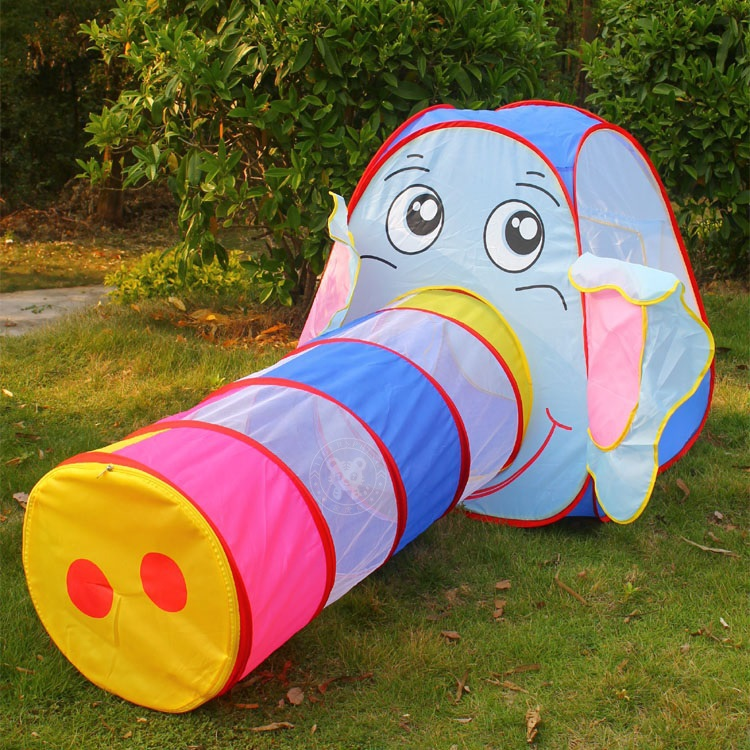 toy multicolor elephant tunnel tents for kids outdoor toys for kids