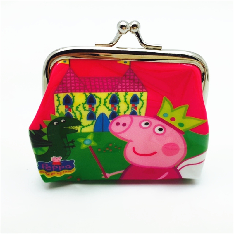 2016 2016 New Come Brand Pink Peppa Pig Cute Coin Purse for Women Children s Small