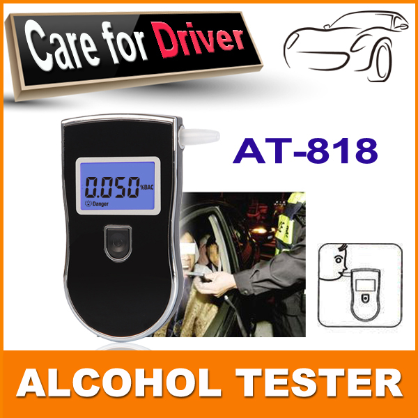 Hot!Prefessional Police Digital Breath Alcohol Tester Breathalyzer Portable Detector LCD Display Alcohol Tester Free shipping(China (Mainland))
