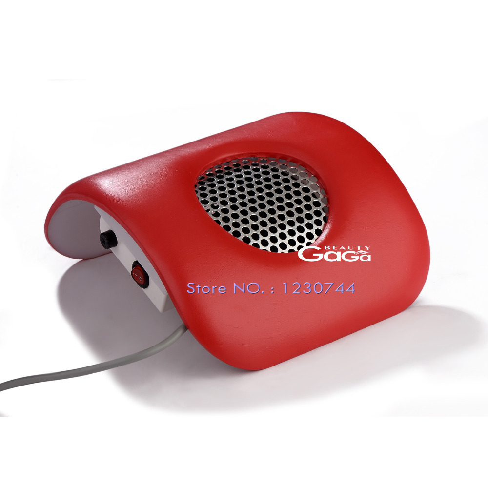 Beauty GaGa Red Color 110V & 220V EU Plug Nail Art Manicure Beauty Salon Equipment Dust Suction Strong Fan Nail Dust Collector(China (Mainland))
