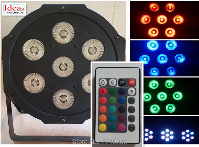 4pce/lot  Wireless remote control  LED American DJ LED SlimPar 7x12W RGBW 4IN1 Wash Light Stage Uplighting No NoiseFast Shipping<br><br>Aliexpress