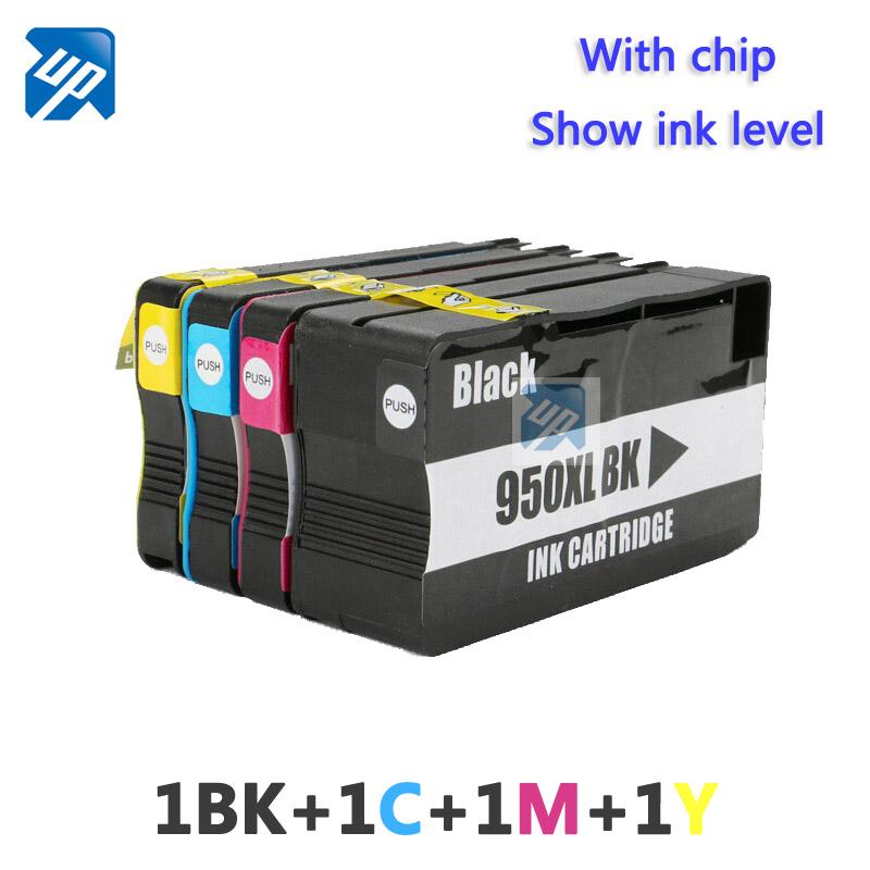 4 Ink Cartridges for HP 950 951 XL Officejet Pro 8100 8600 ...