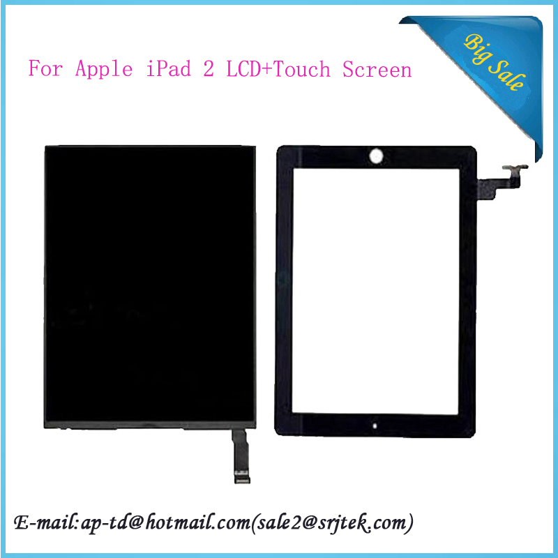 High Quality 9.7 For Apple iPad 2 Tablet Touch Screen Digitizer Sensor With LCD Display Repairment Parts<br><br>Aliexpress