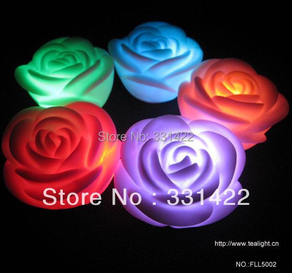 500pcs lot Rose Candles party decoration flameless candles bulk floating candles decorative wedding velas de flower