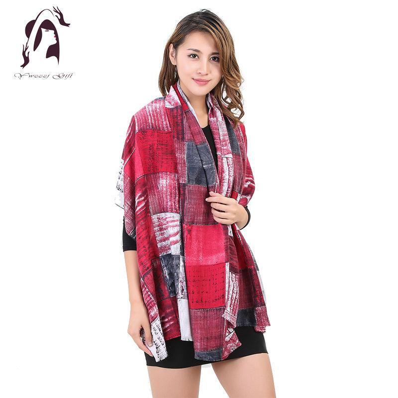 [YWJUNFU] 2017 New Design Women Scarf Unique Brand Cotton Scarf Scarves Shawl Long Size Print Bandana Scarves Wrap YJF023(China (Mainland))