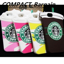 Hot Sale 3D Cartoon Silicon Starbuck Coffee Cup Case for Apple iPhone 4 4s 5 5s SE 6 6S 6 Plus Mobile Phone Capa Fundas Cover