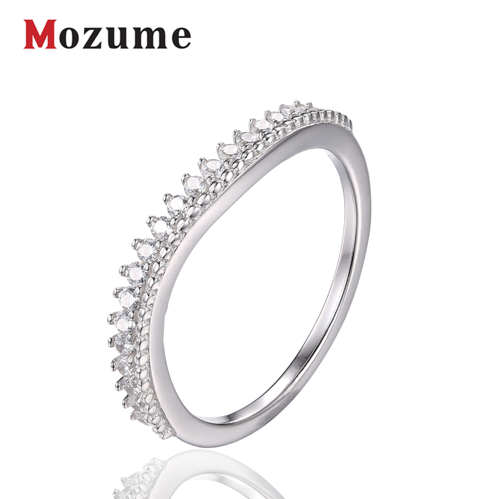 Wave Design Shining CZ Rings 925 Sterling Silver Engagement Rings for Women Romantic Gift 2016 New(China (Mainland))