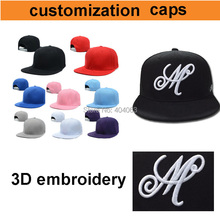 mini wholesale 50pcs!50%-60% discount shipping cost!custom cap hip-hop,custom snapback caps embroidery your logo(China (Mainland))