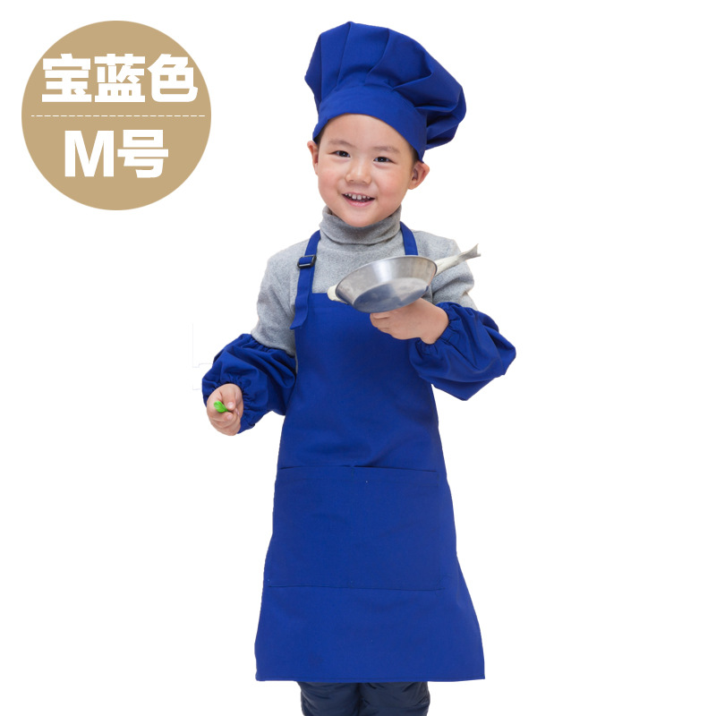 2015 Hot Sale Childrens Red Kitchen Canvas Chef Aprons Kids Hanging Cute Quality Cook Apron Uniforms Apparel Free Shipping(China (Mainland))