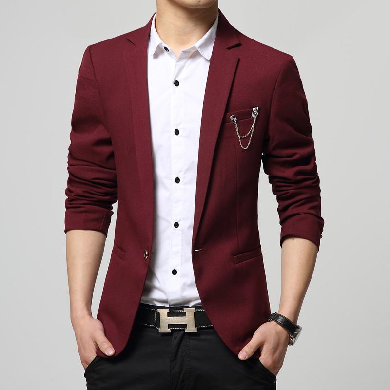 HOT New Spring Autumn Fashion Brand Men Blazer Men Trend Jeans Suits Casual Suit Jacket Men Slim ...