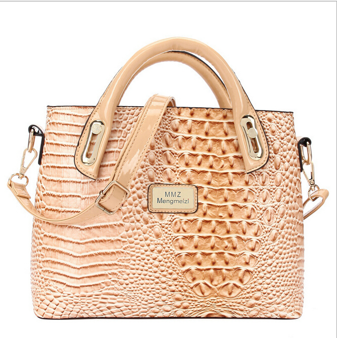New design Fashion style Women messenger bags Genuine leather women bag crocodile grain leather bag Women Tote Crossbody Bag(China (Mainland))