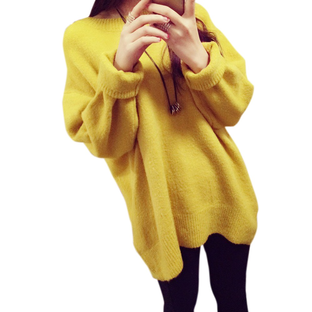 2016 Women Sweaters and Pullovers Korean Winter Sweater Pullovers Jumpers Burderry Pull Femme O-neck Loose Knitted Sweater(China (Mainland))