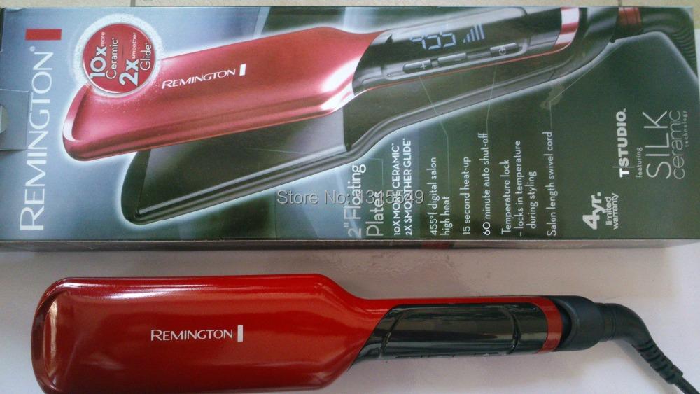"Silk Remington s9620 Ceramic Flat Iron 2"" Hair Straightener Professional Straightenering Iron Dual Voltage Free Shipping(China (Mainland))"