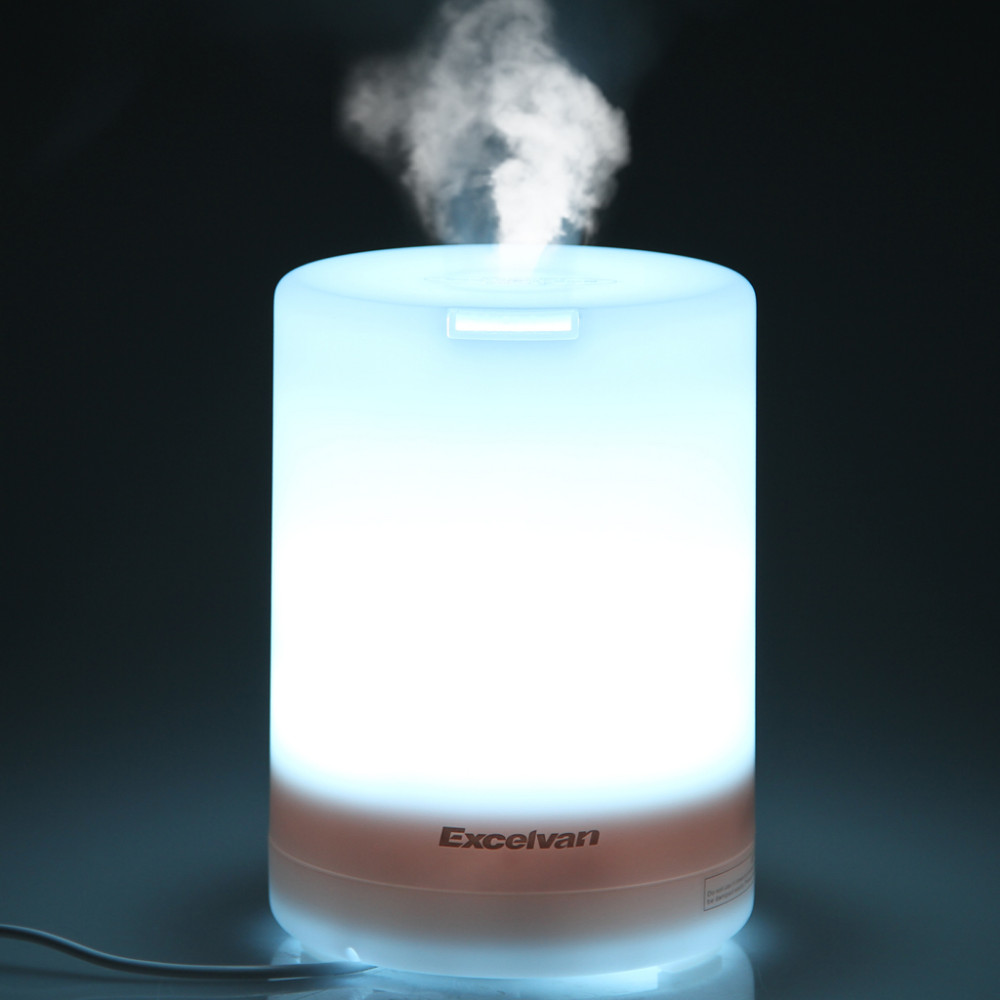 Excelvan 300ml Ultrasonic Air Humidifier Aroma Diffuser Essential Oil Diffuser Air Purifier Mist Maker with Colorful LED Light(China (Mainland))