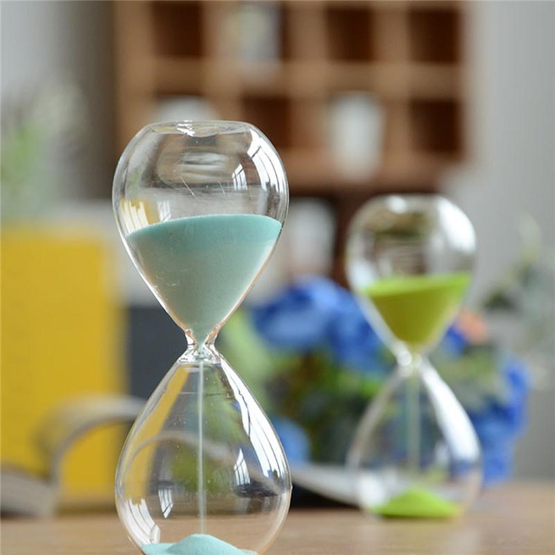 Colorful Sand Glass Sandglass Hourglass Clock Watch Timer 15 Minutes Home Desk Decor Birthday Gift(China (Mainland))