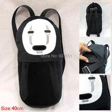 Miyazaki Hayao Cartoon Spirited Away No-Face Faceless 40cm  Plush Doll Soft Stuffed Toy Christmas Backpack Free Shipping(China (Mainland))