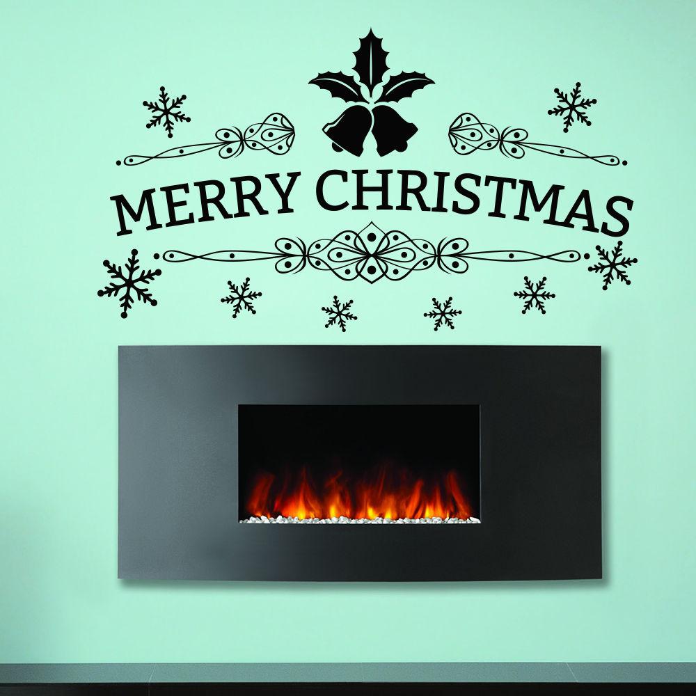 89X50cm Merry Christmas Wall Decal Tree Vinyl Wall Sticker For Kids Room Nursery Home Art Decor Shop Door Window Decals Vinilos(China (Mainland))