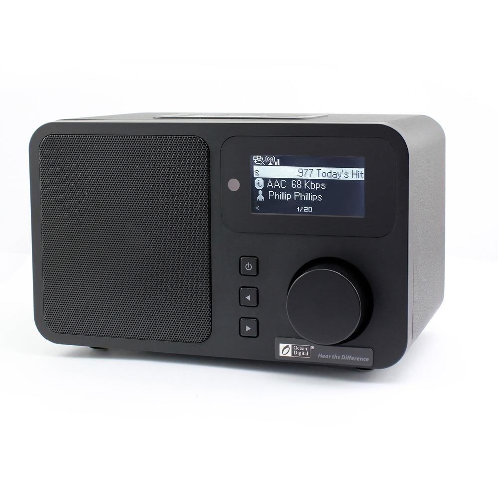 Ocean Digital Wifi Internet Radios Device News Music Media Player Home Wooden Built-In Speaker WLAN Receiver Audio Clock Radio(China (Mainland))