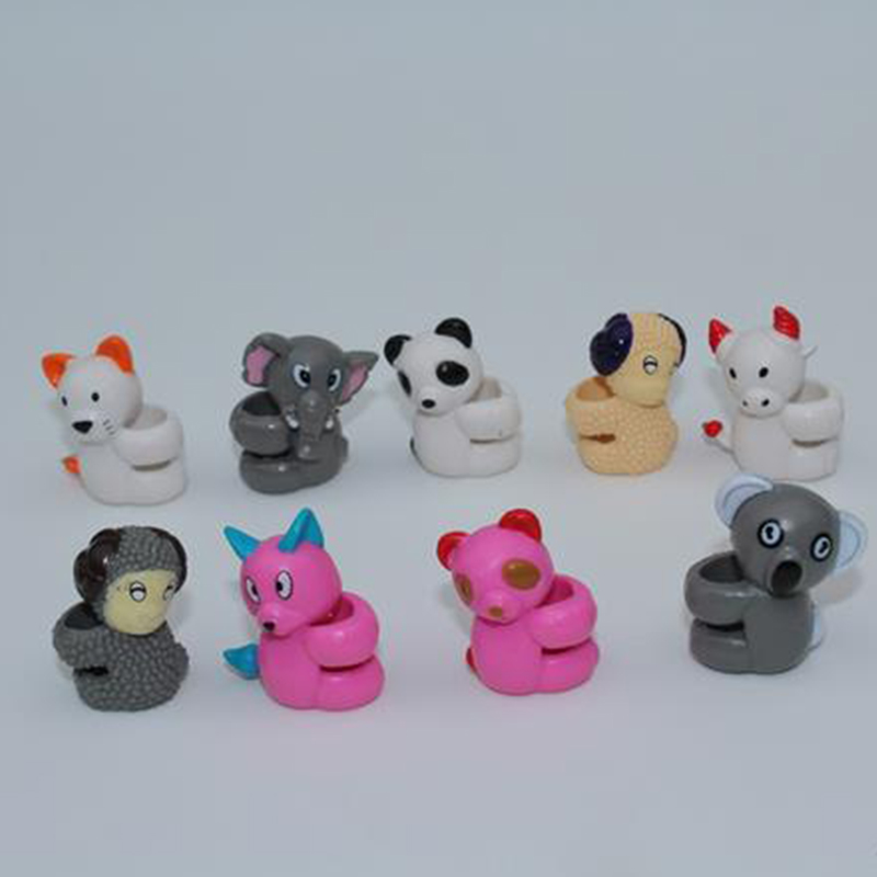 50pcs/lot educational students' toys, animal style pencil covers 3cm, capsule dolls randomly shipping(China (Mainland))