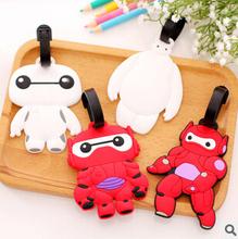 Cute Luggage Tag Kawaii Cartoon Silicone Luggage Tag Travel Accessories Suitcase Bag Tag KCS(China (Mainland))