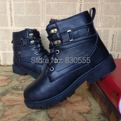 Add Villus Cotton-padded shoes Winter Keep warm Casual Cotton leather boots Short tube Riding Box1036 - Online Store 830555 store