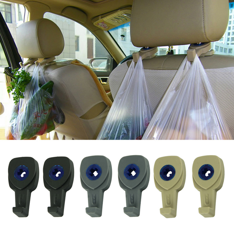 New Hot 2Pcs Car Interior Accessories Portable Auto Seat Hanger Purse Bag Organizer Holder Hook Headrest Free Shipping&Wholesale