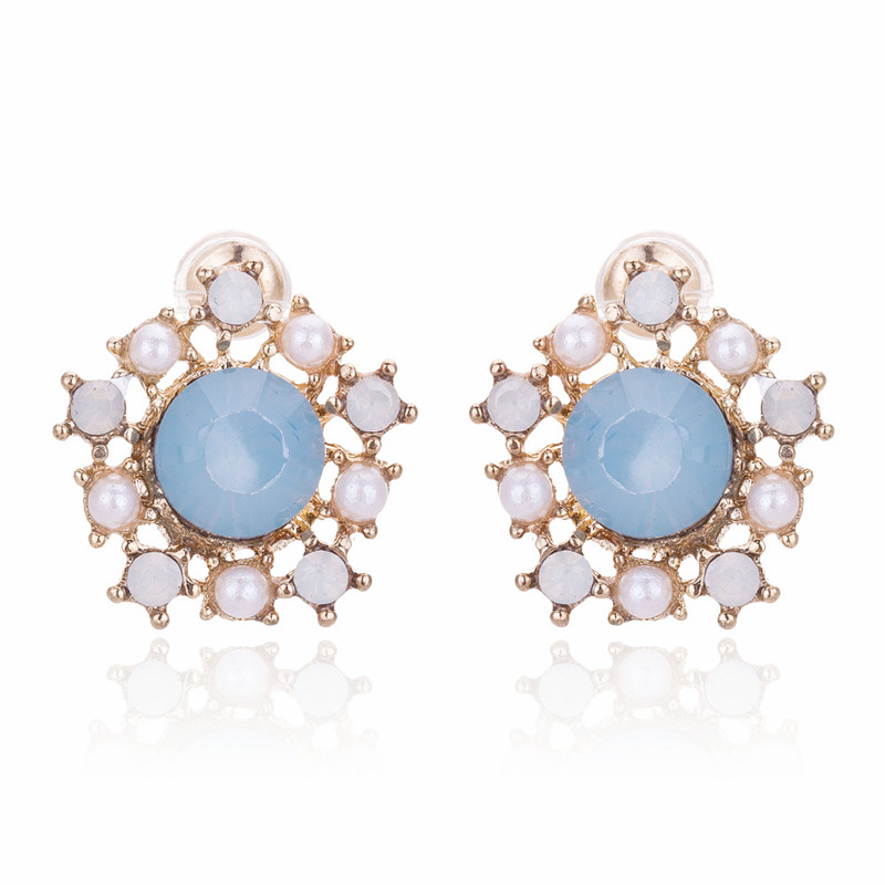Crystal Stud Earring Fashion Women Rhinestone Small Fine Jewelry Boucles Pendientes BE190 - Q-Star Store (min order 1pc store)