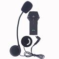 2016 New Version FM NFC function one pcs Multi BT Interphone Motorcycle Helmet Bluetooth Intercom Headset