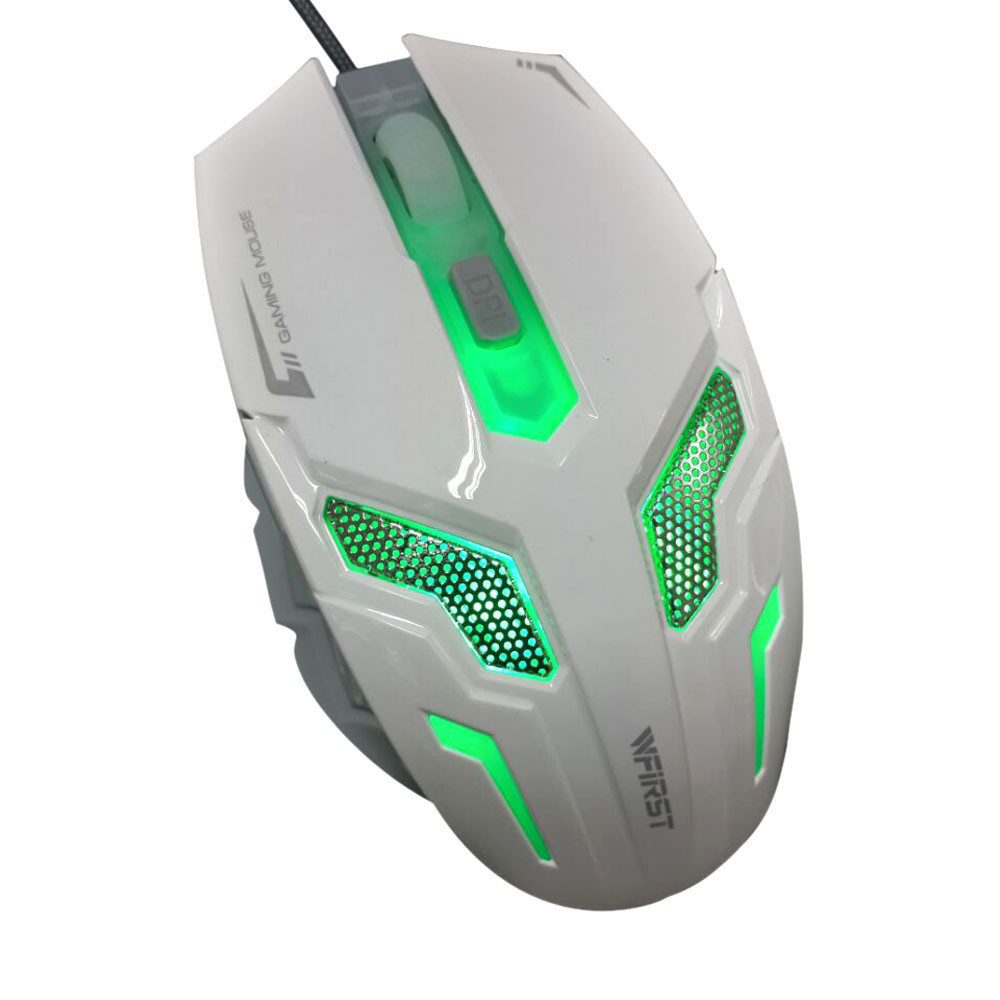 Mouse Ergonomic design with good thumb rest Optical USB Wired Gaming Game Mouse for PC Laptop White(China (Mainland))