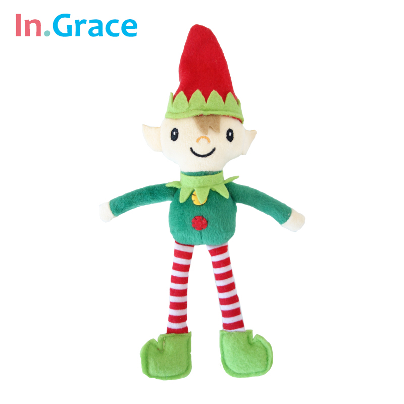In.Grace stuffed Genius dolls with long legs and red hat Christmas gift toys handmade mini dolls high quality 25CM red hat toys(China (Mainland))