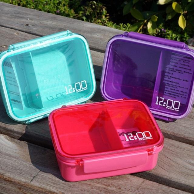 2016 Новые Пластиковые PP Милый Японский Стиль Микроволновая Печь Bento Box Закуска Пищевых Контейнеров Для Детей Посуда Установить Бесплатная Доставка
