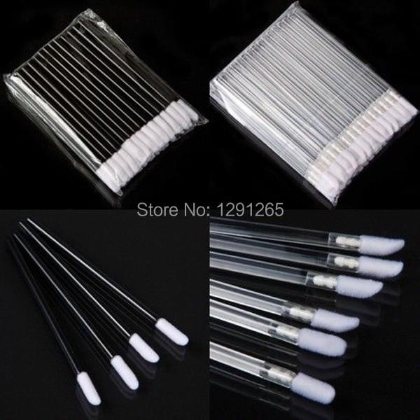 1Set 50PCS Pro Disposable Lip Lipstick Gloss Wands Brush Applicator Makeup Tool hW4an