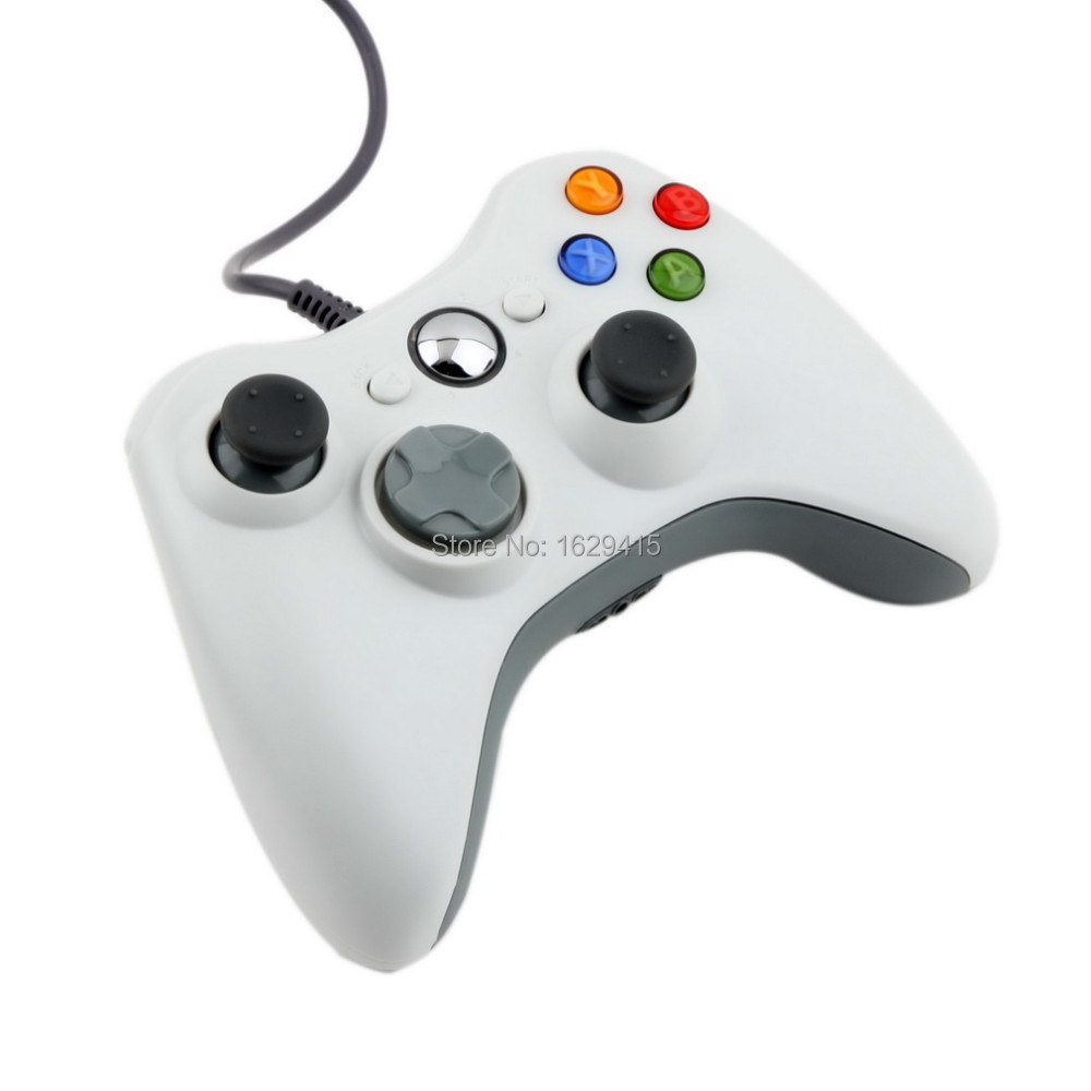 USB Wired Joypad Gamepad For Microsoft Xbox 360 Console Wired Controller Black White Red Blue For XBOX360 PC Game Joystick