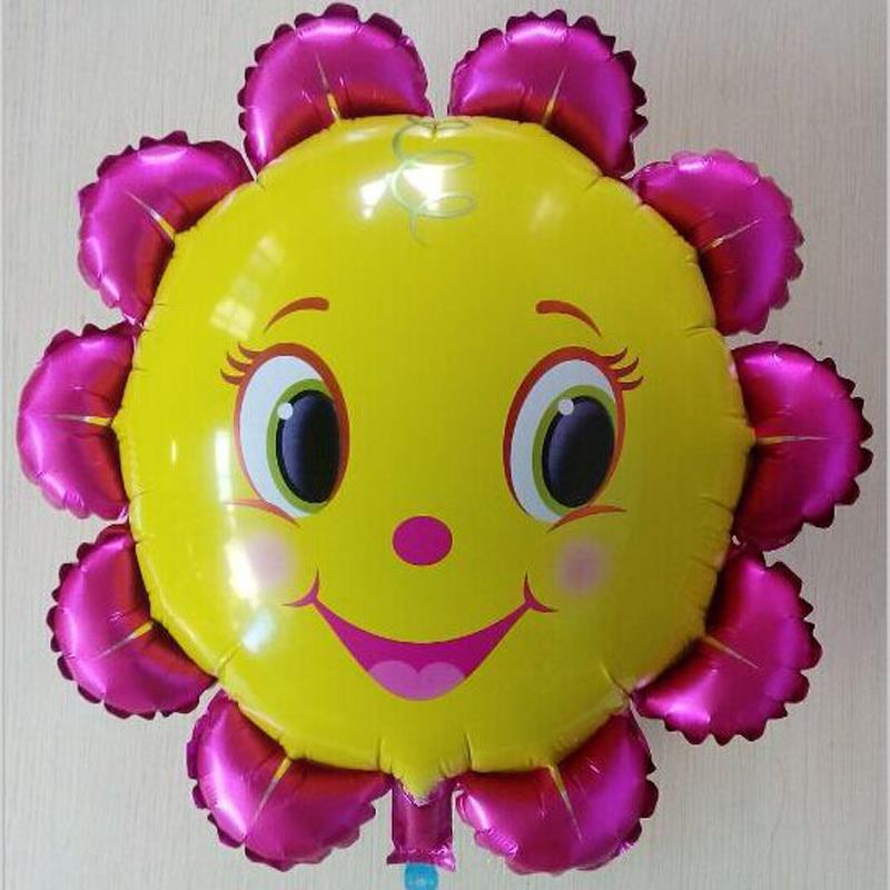 Hot Sale 18 inch Sunflower Aluminum Foil Balloons Wedding Birthday Party Gifts Child toys Balloons(China (Mainland))