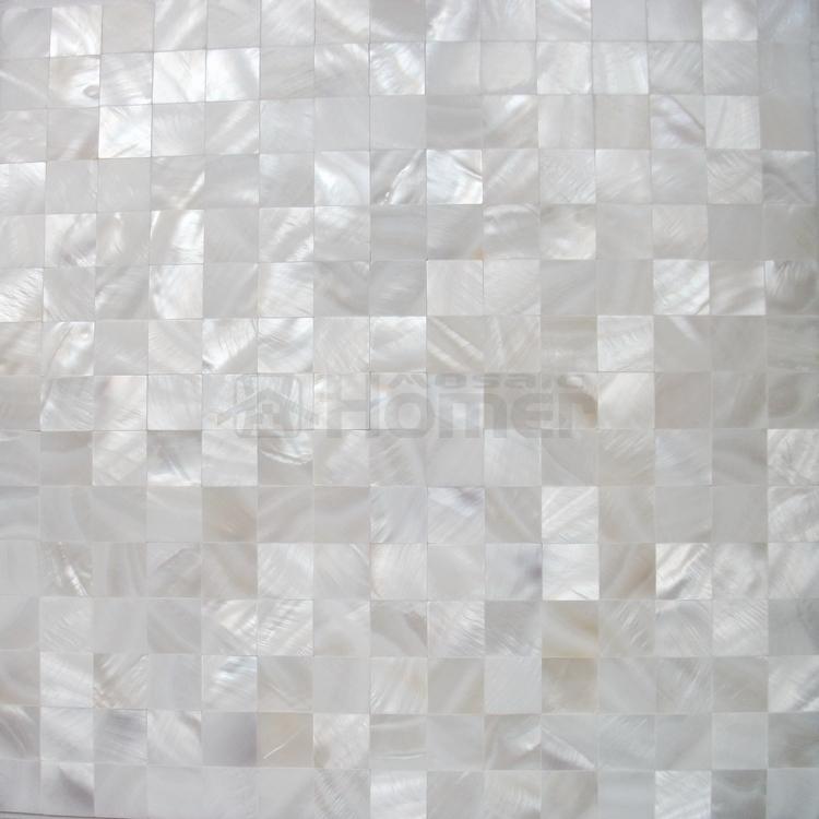Buy Pure White Shell Mosaic Tiles