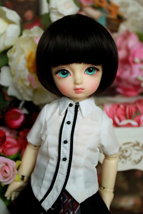 BJD Doll Wig 1/3 1/4 1/6 SD Short Bob Straight Wigs Synthetic Fiber Hair For Dolls Free shipping BJD Doll Wig<br><br>Aliexpress