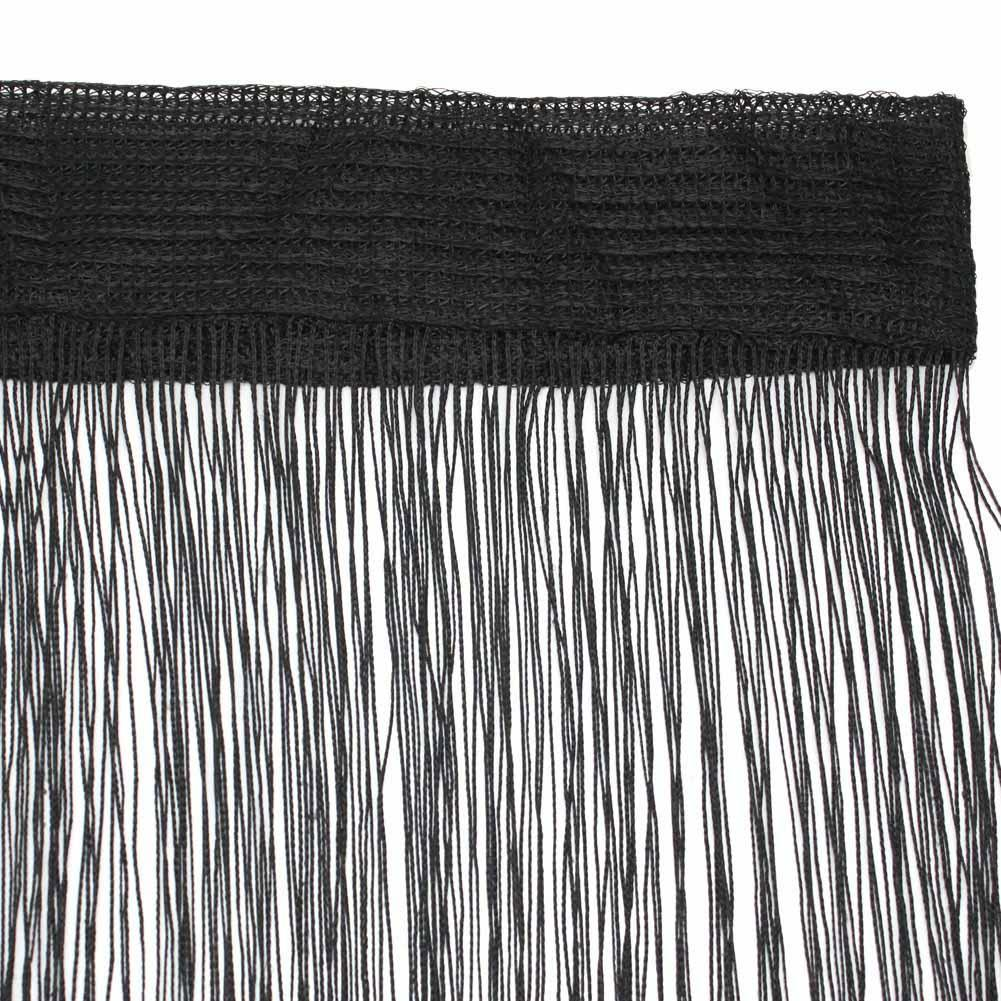Black String Curtains Door Doorway Window Decorative Fringe Curtain Strip Tassel(China (Mainland))