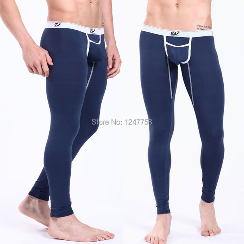Sexy Men's Underpants Modal Thin Thermal Underwear Slim Fit Long Johns