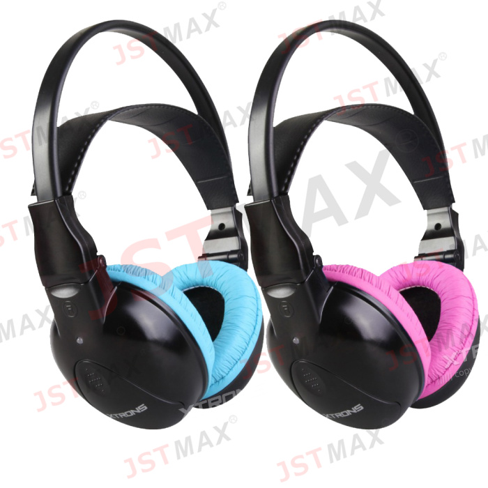 Dual Channel Wireless IR Headphones for Car Headrest DVD & TV & PC & MP3 for Children with Pink Color(China (Mainland))