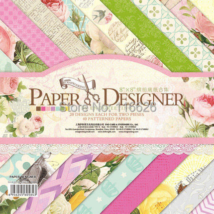 Cute Floral Pattern Paper (40sheets/lot )