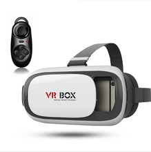 New Google cardboard VR BOX II 2.0 Version VR Virtual Reality 3D Glasses For 3.5 – 6.0 inch Smartphone+Bluetooth Controller 1.0