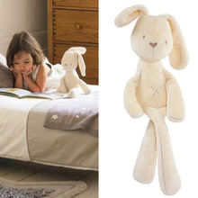 Hot Sale 54*11CM Cute Baby Kids Animal Rabbit Sleeping Comfort Doll Plush Toy(China (Mainland))