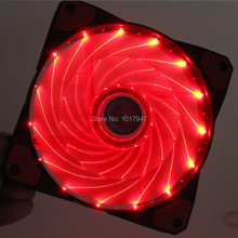 2 PCS LOT Red LED PC Computer Case Heatsink Cooler Cooling Fan DC 12V 4P 3P 120mm 120*120x25mm 12025S(China (Mainland))