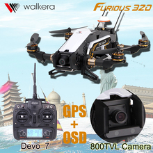 Walkera Furious 320 Devo7 10 Transmitter RTF FPV Quadcopter Drone With Camera HD OSD GPS CFP Modular VS DJI  Fast Ship